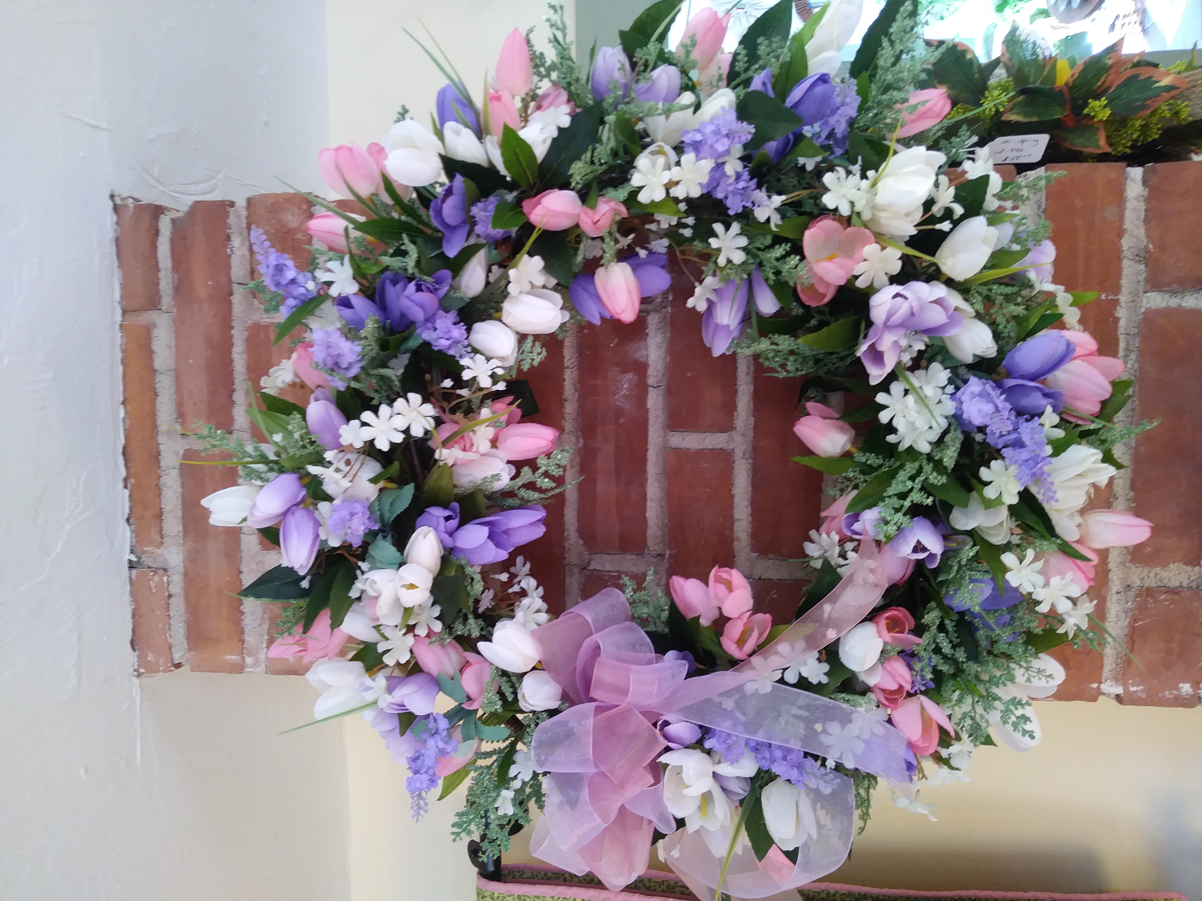 Spring tulip wreath from Coventry crafts