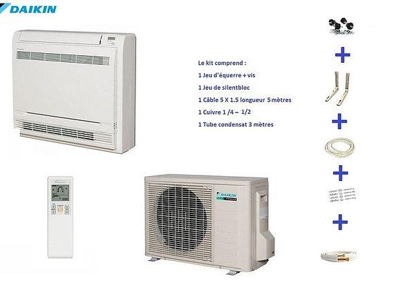 Climatiseur réversible console Daikin FVXS50F + RXS50L