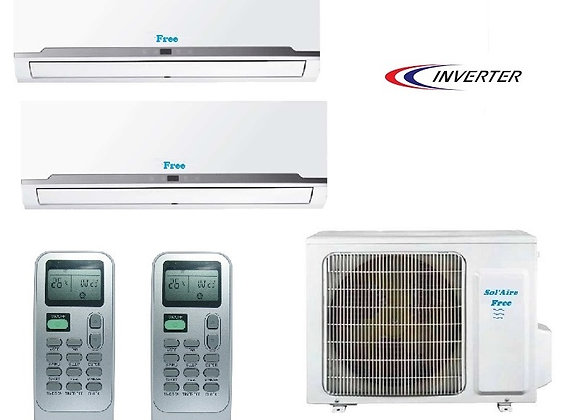 Climatiseur réversible bi split Free Sol'Aire 2 x 3.5 kW