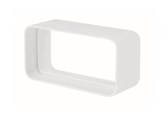 Manchon goulotte rectangulaire 55 x 220 mm blanc