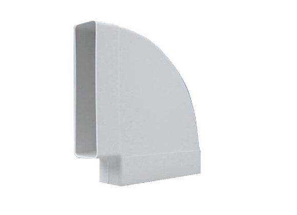 Coude horizontal rectangulaire 55 x 220 à 90 °