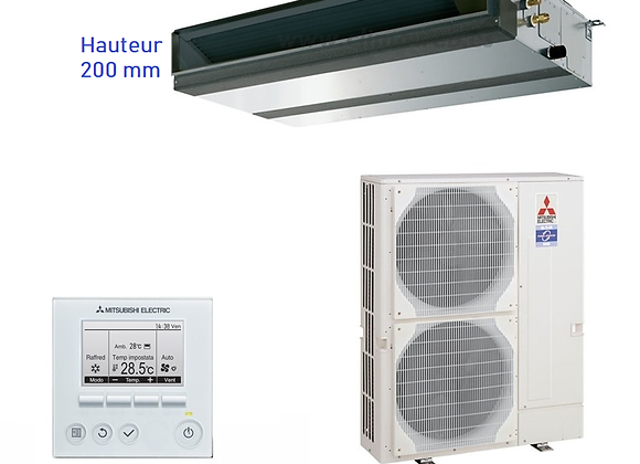Climatiseur gainable Mitsubishi Electric ensemble PEAD-RP100JAQ+PUHZ-ZRP100YKA