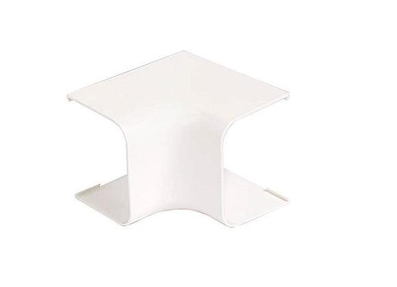 Courbe sortie de mur pour goulotte 80 x 60 blanche