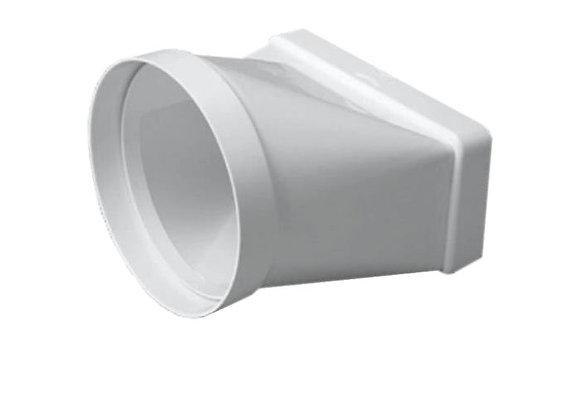 Adaptateur de transition rond rectangulaire 55 x 110 mm dim.100