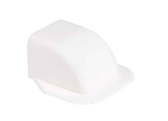 Courbe mur pour goulotte 125 x 75 blanche
