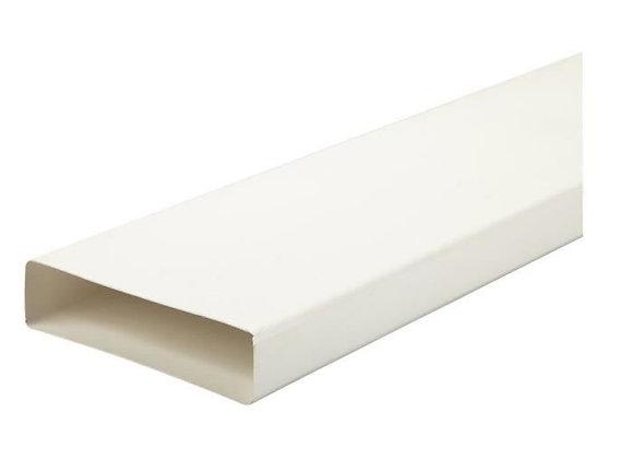 Goulotte conduit plat pvc rigide rectangulaire 55 x 110