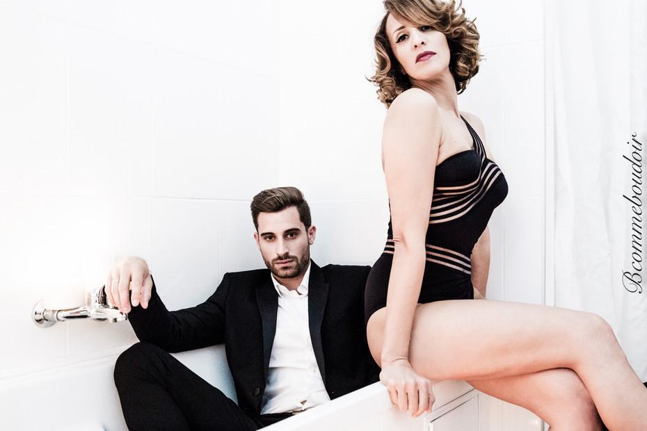 Bcommeboudoir, boudoir, Duo, Couple- shooting boudoir- sensuality- studio- GENEVE- jessika LERAY- woman photographer
