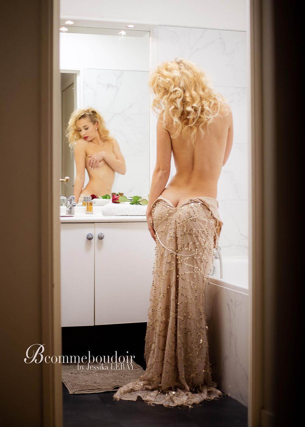 shooting photo Paris glamour et boudoir pour une séance photo romantique te magnifique au souvenir inoubliable!