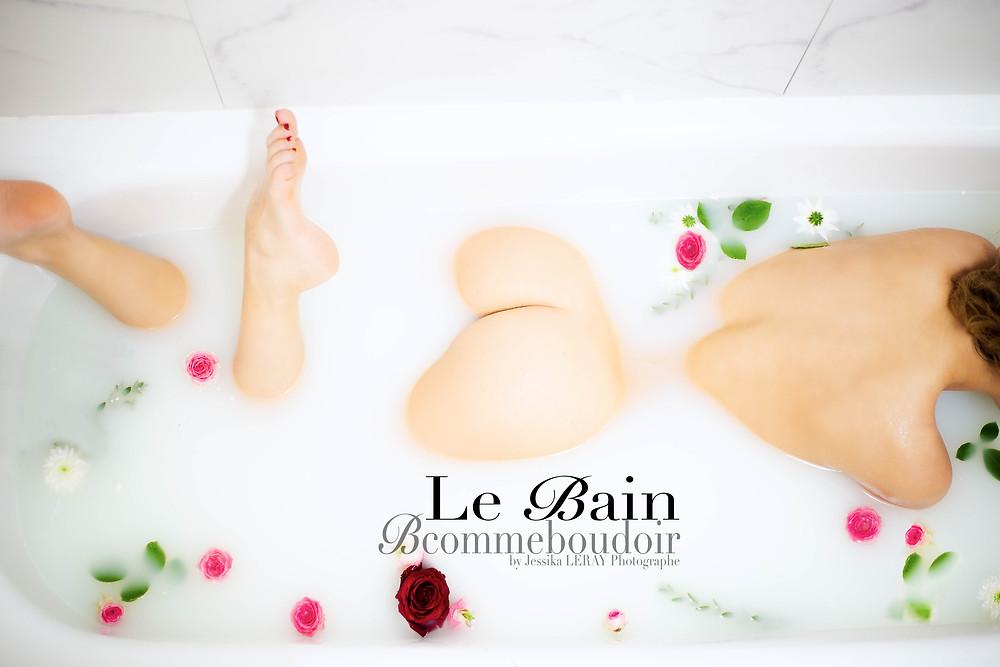 Séance photo insolite, romantique et sensuelle dans le bain pour un souvenir cadeau tout en image...!