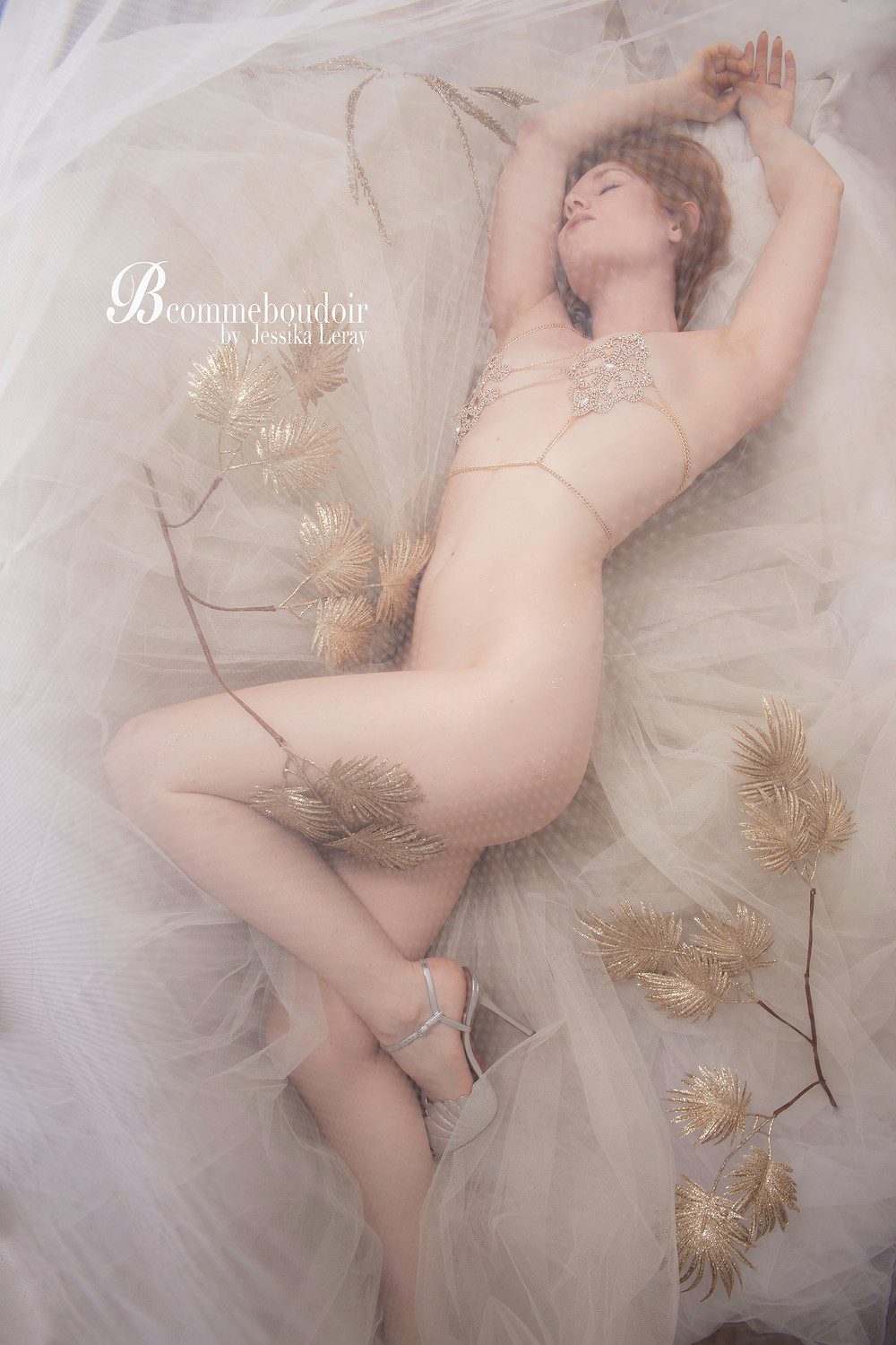 shooting photo Fine Art et  boudoir ou  portrait intime tel un tableau