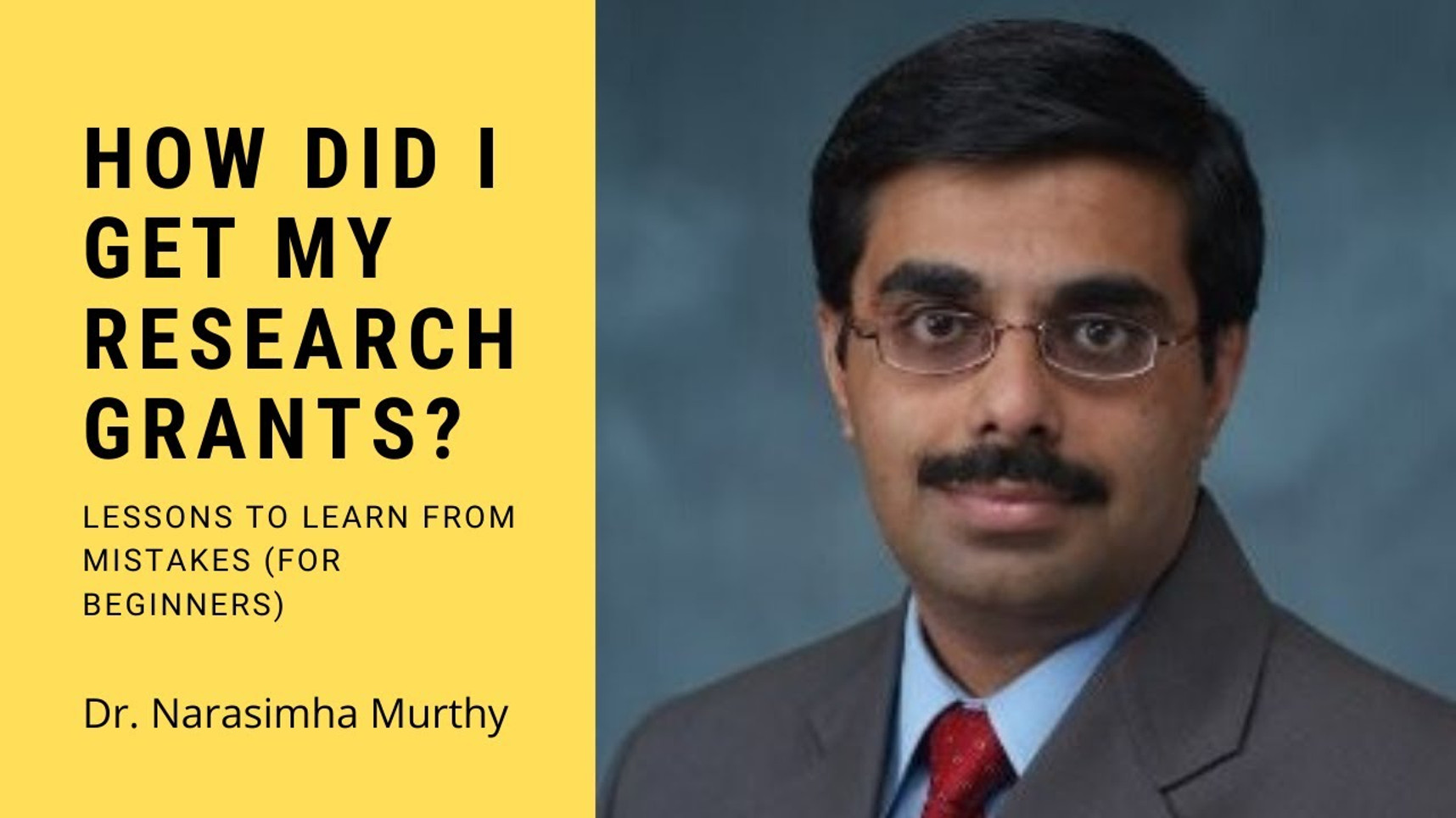 ". Dr. Narasimha Murthy presented a Webinar, organized by the Association of Pharmaceutical Teachers of India (APTI) on June 20, 2020 on topic ""How did I get my Research Grants? Lessons to Learn from Mistakes (For Beginners)"""