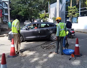 Pothole cleaning