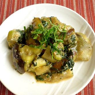 Nasu nabeyaki  (Stir-fried eggplants)