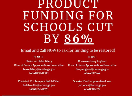 Georgia Decimates School Funding Menstrual Supplies!