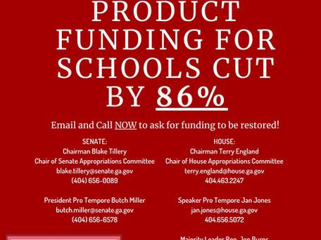 Georgia Decimates School Funding Menstrual Supplies!