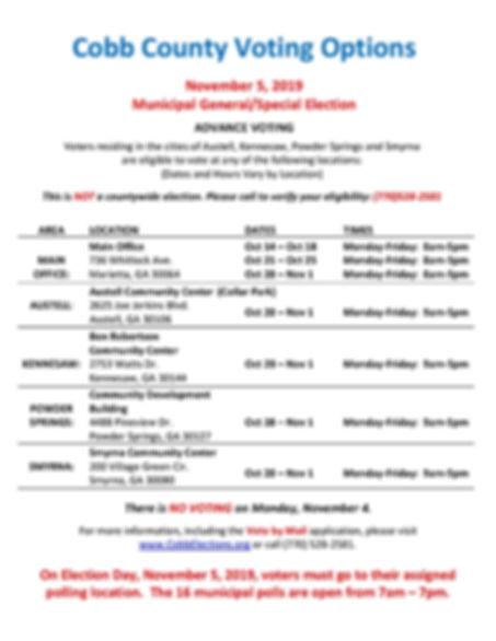 Advance Voting Flyer November 2019 FINAL