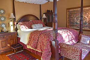 Cozy romantic guest room at the Apple Tree Historic B&B