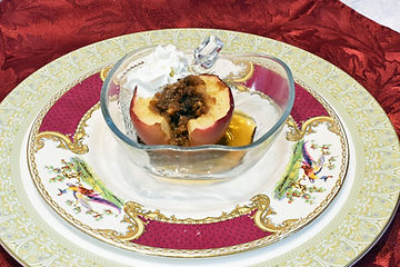 Baked apple with brown sugar cinnamon cr