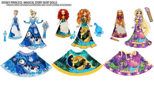 Disney Princess Story Skirts