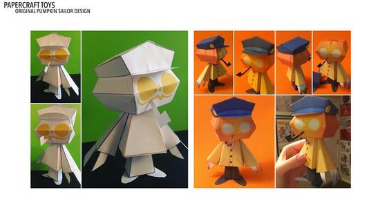 Pumpkin Sailor Papercraft