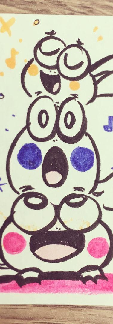 Singing Frogs Postit Doodle