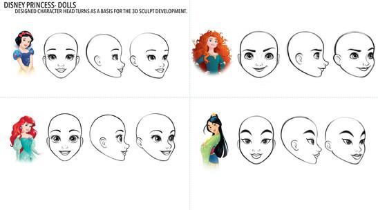 Disney Princess Heads