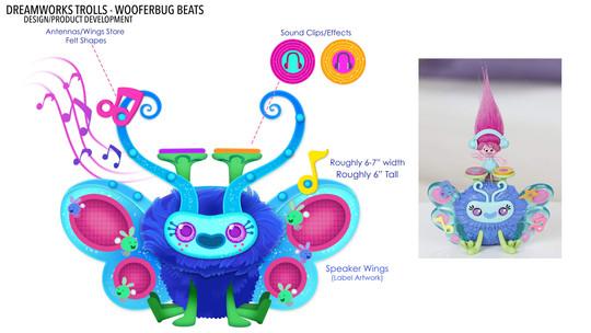 Dreamworks Trolls Wooferbug Beats