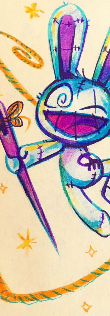 Magic Bunny Postit Doodle