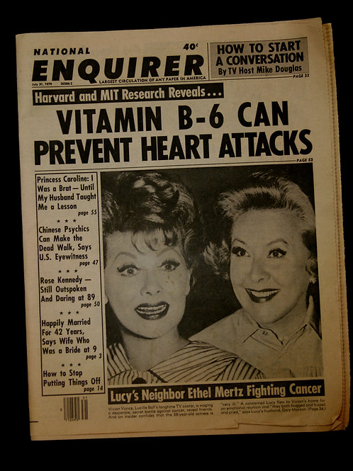 National Enquirer with Lucy Ball and Vivian Vance