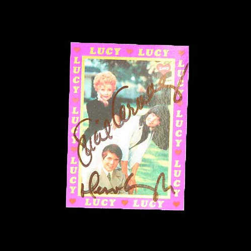 """Autographed """"Here's Lucy"""" Trading Card"""