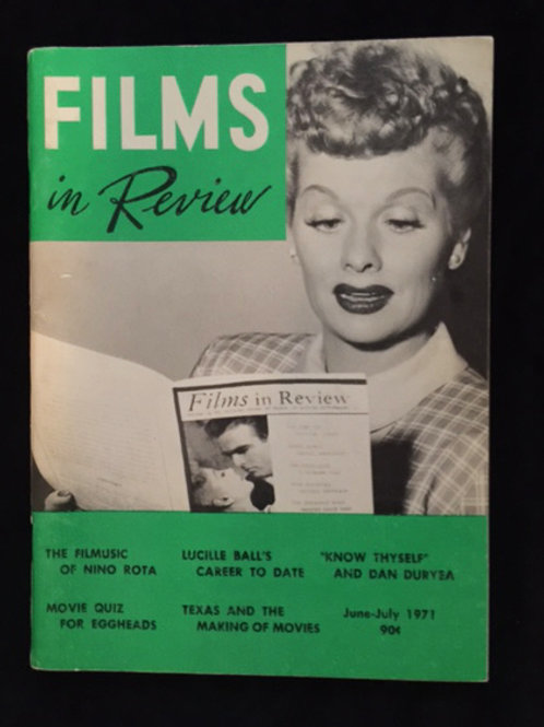 """Films In Review"" Magazine"