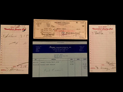 Assorted Receipts and Checks from Ball & Arnaz