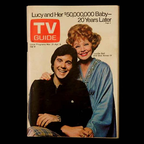 TV Guide with Lucy and Desi Arnaz, Jr.