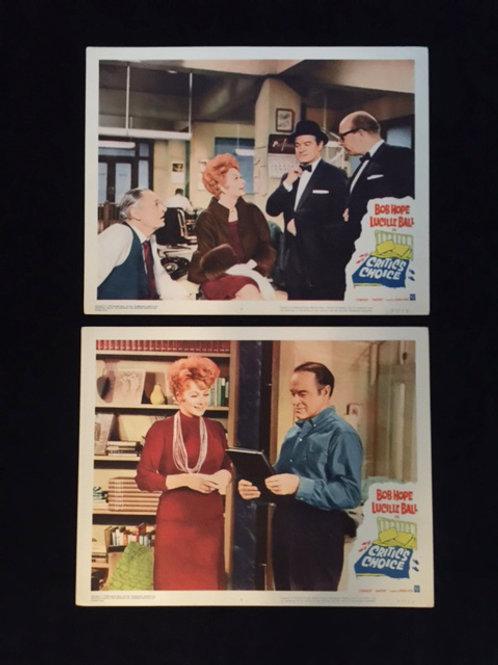 """Set of 2 """"Critics Choice"""" Lobby Cards"""