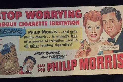 Phillip Morris Cigarette Comic Strip Ad