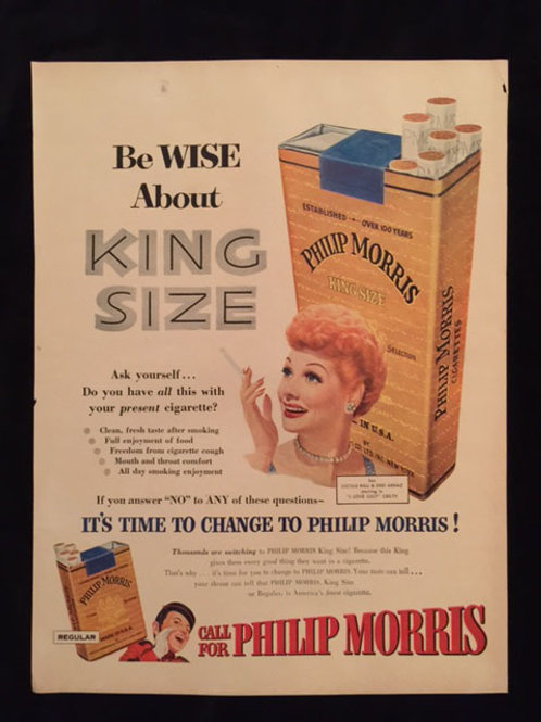 """Phillip Morris """"Be Wise About King Size"""" Ad"""