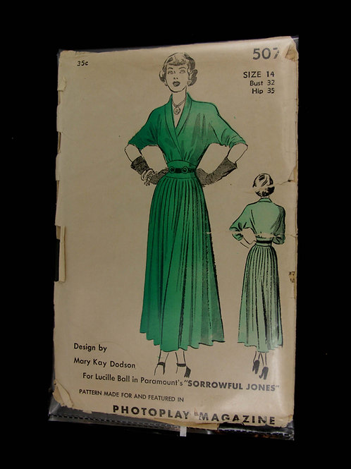 Lucille Ball Vintage Sewing Pattern
