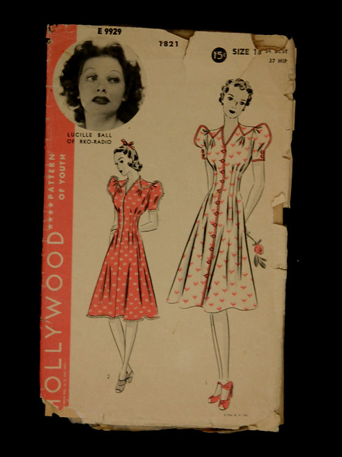 1940's Hollywood Sewing Pattern feat. Lucille Ball