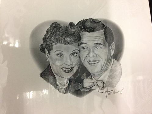 Lucy & Desi Print Sketch