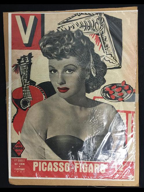 """""""V"""" Magazine Large Newsprint Magazine 1940"""