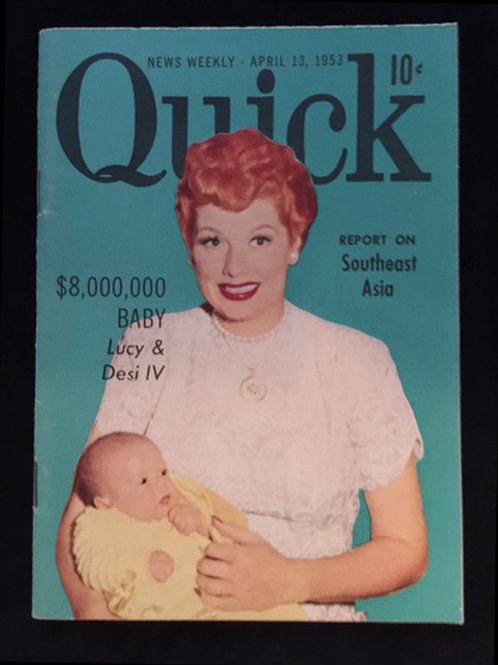 Quick Magazine: Lucy and baby Desi