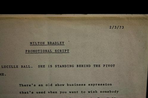 Milton Bradley-Golf  TV Ad Script For Lucille Ball