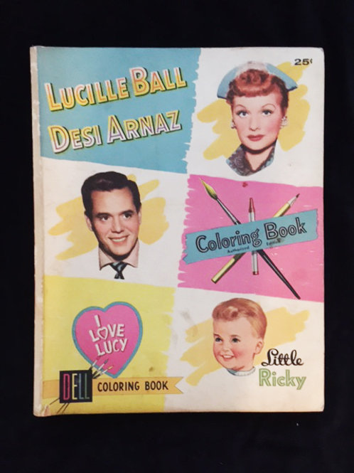 I Love Lucy Dell Coloring Book 1955