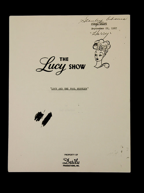 """The Lucy Show Script """"Lucy And The Pool Hustler"""""""