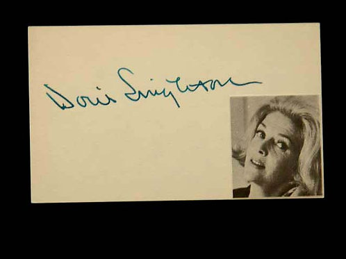 Doris Singleton Original Autograph on Index Card
