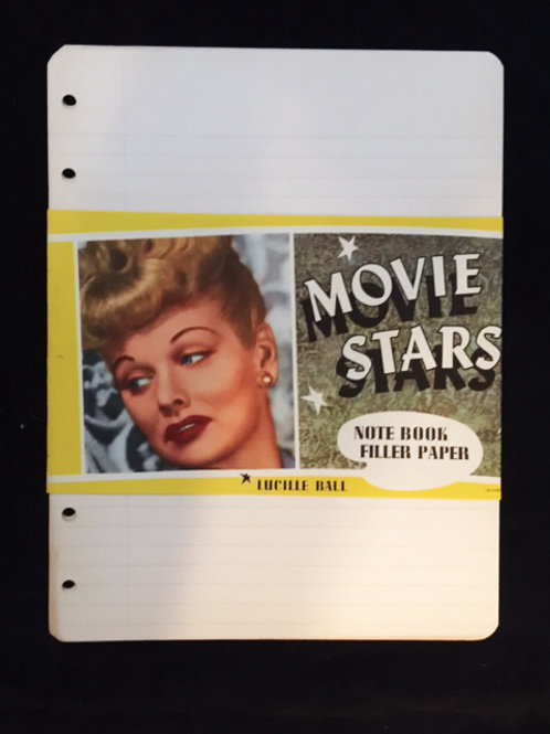 Lucy Notebook Filler Paper 1940s