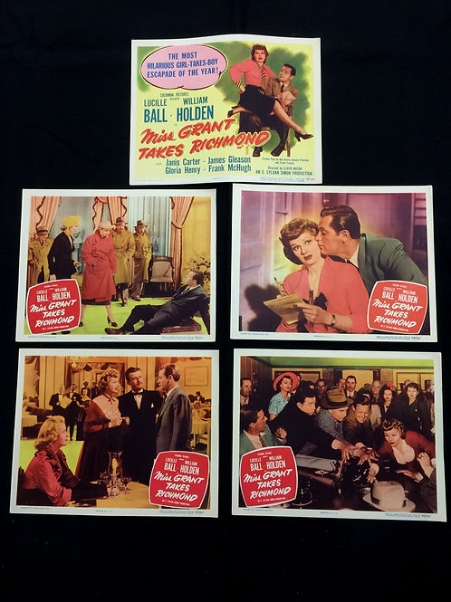 "Set of ""Miss Grant Takes Richmond"" Lobby Cards"