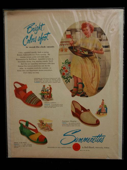 Summerettes Lucille Ball Magazine Advertisement