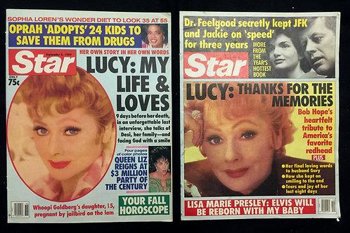 "Set of 2 ""Star"" Magazines 1980's"