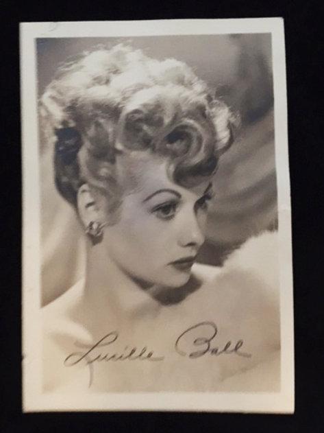 Lucille Ball Facsimile Signed Postcard